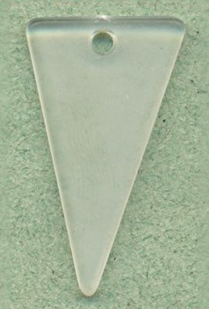 31x17mm Frosted Acrylic Triangle Drop