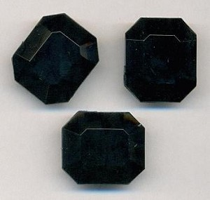18x15mm Black Acrylic Octagon Beads