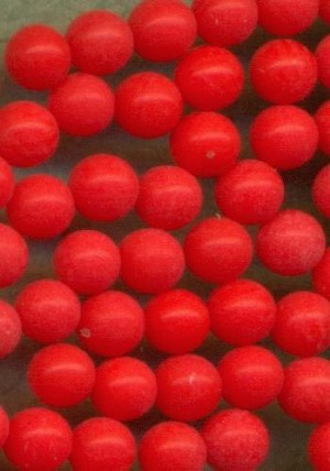 2.5mm Red Glass No Hole Beads