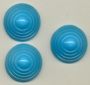 17mm Aqua Circular Patterned Moonstones