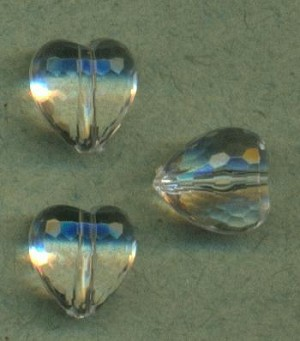 9x8mm Acrylic Heart Beads