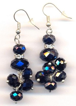 40mm SP Hematite Color Earrings
