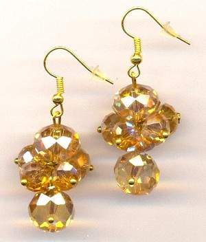 31mm GP Topaz AB Earrings