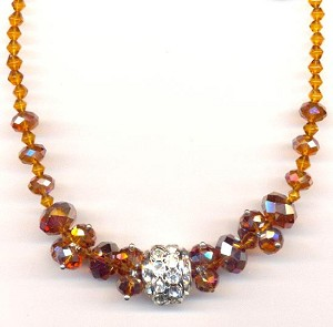 18'' Smoked Topaz AB Necklace
