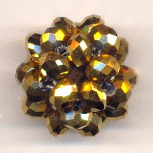 26mm Gold Woven Bead Cluster