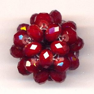 28mm Red Woven Bead Cluster