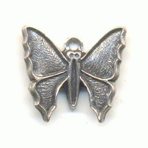 12x13mm AS Die Struck Butterfly Charms