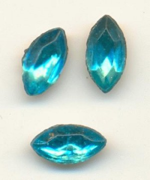 6x3mm Aquamarine Navettes
