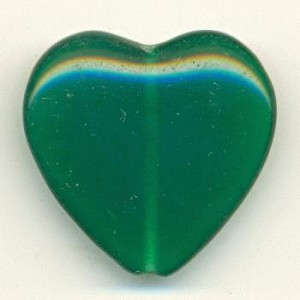 23mm Smooth Jade Heart Bead