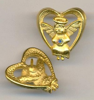 22x21mm MG Heart & Angel RS Pins