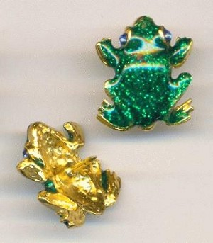 20x18mm Enameled Frog Pins