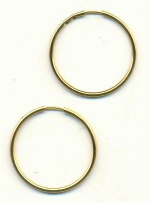 30mm Matte Gold Hoop Earrings