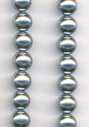 30'' Silver Glass Pearl Strands