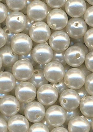 7mm Pearl Acrylic Beads