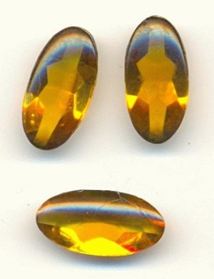 14x7mm Smoked Topaz Ovals