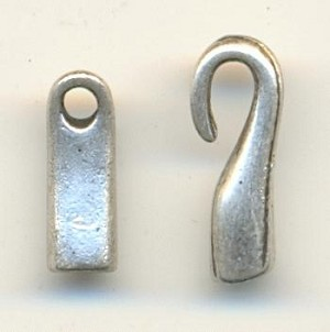 2mm Hole,Silver Cast Hook&Loop Connects
