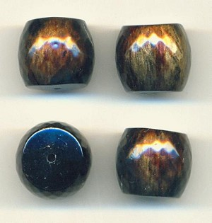 18x16mm Black Gold Brown Acrylic Beads