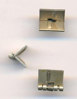 8mm (5/16'') Silver Colored Spring Hinges