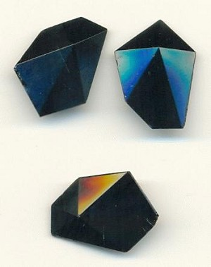 22x16mm Faceted Black Stone