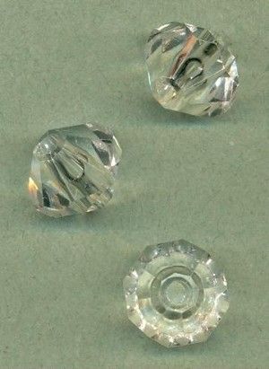 18x15mm Clear Faceted Acrylic Beads