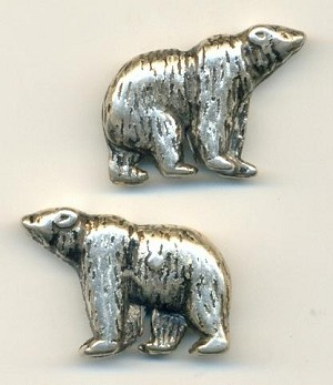 34x25mm AS Metalized Plastic Bear Beads