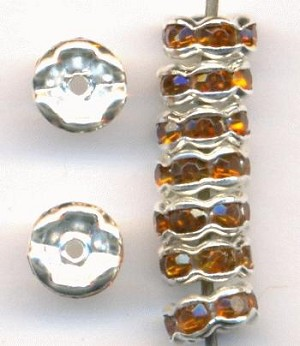 6mm SP Smoked Topaz RS Rondelles