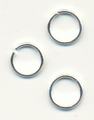 8mm Silver Plated Jump Rings