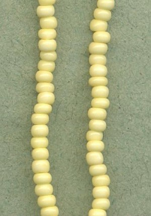 08/0 Beige/Pale Yellow Seed Beads