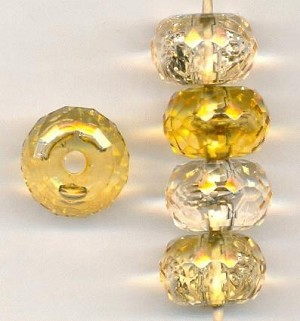 18x12mm LT Topaz Faceted Acrylic Beads