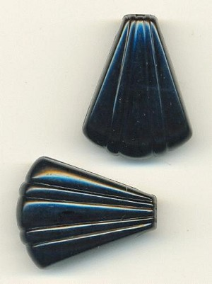 32x25mm Black Acrylic Shell Drops