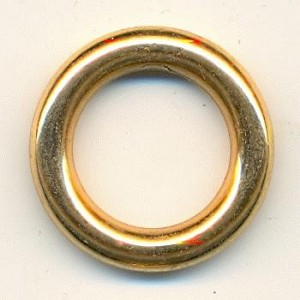 22mm Gold Acrylic Rings