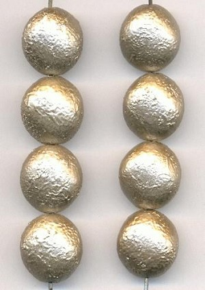 13mm Acrylic Silver/Gold Bead
