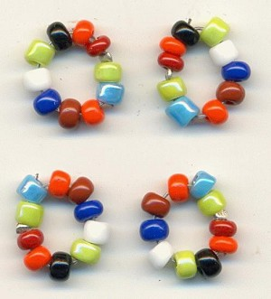 13mm Mulit-Color Seed Bead Clusters