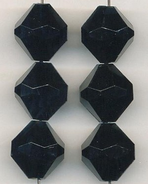 18mm Black Acrylic Bicone Beads