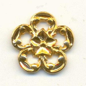 12mm Die Struck Brass Flowers