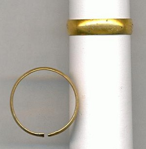 5mm Smooth Adustable Brass Rings