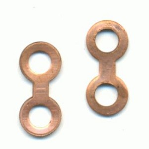 10x4mm Copper Rivet/Swedge Connector