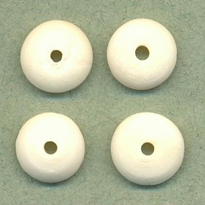 11mm Carved Bone Disk Beads