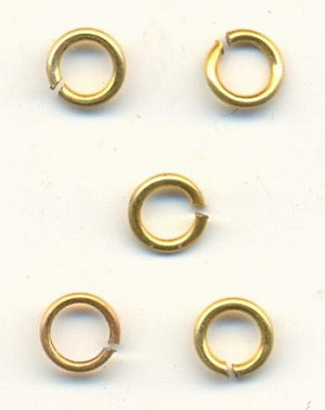 4.5mm Brass Jump Rings