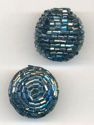 24mm Hematite Wrapped Beads