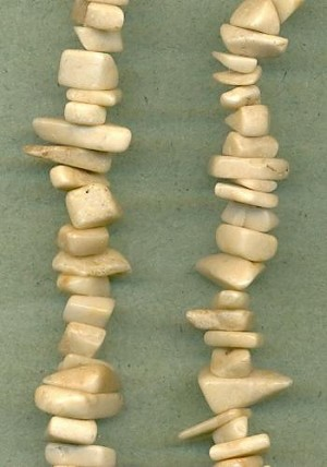 Mixed Beige Stone Nugget Beads