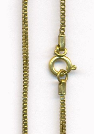 15'' Brass Box Chain Necklace