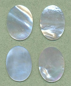 25x18mm MOP Oval Stones