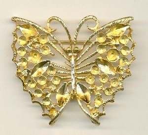 52x46mm GP Unfinished Butterfly Brooch