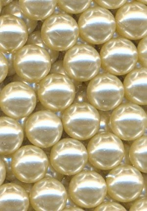 6mm Off-White Acrylic No-Hole Pearls