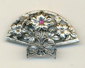 52x34mm AS Flower Fan Brooch