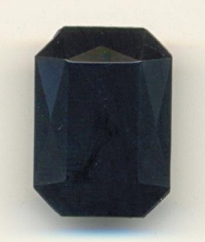 25x18mm Black Acrylic Octagon Beads