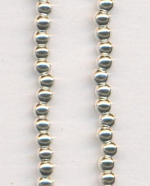 2.5mm Silver Metalized Plastic Beads