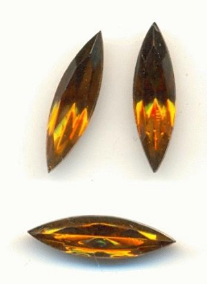15x4mm Smoked Topaz Navette RS