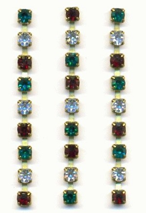 3mm Emerald Crystal Ruby RS Chain Parts